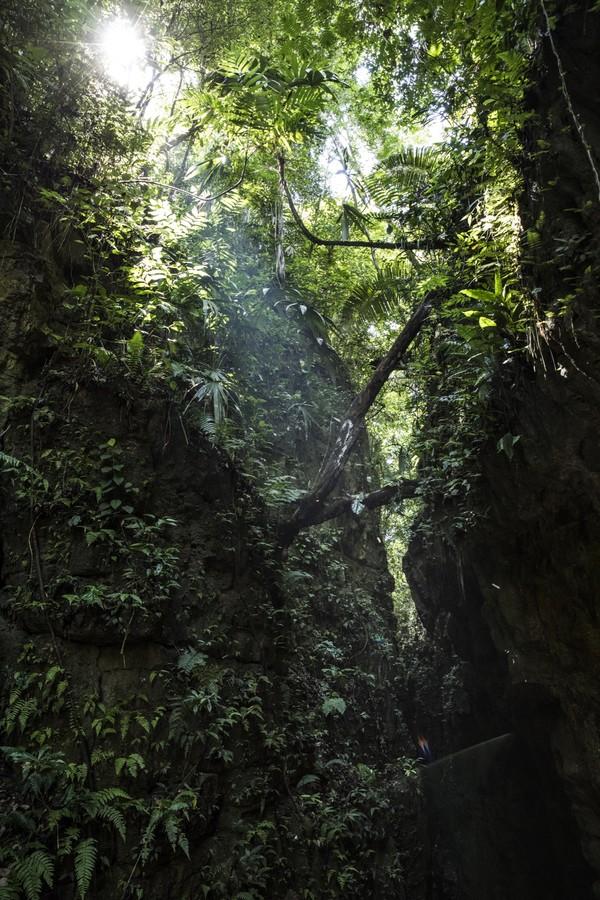 Guatemala, Petén, Lichtstrahl